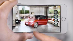 Hãng xe hơi BMW cũng đưa công nghệ AR vào để xây dựng AR app