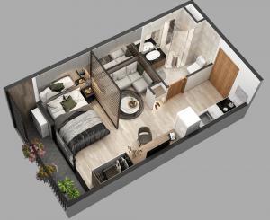 Dựng 3D cho nội thất căn phòng mẫu và lập trình tương tác trải nghiệm